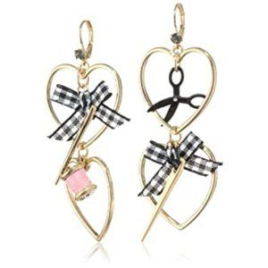NWTs Paris Collection Multi Charm Sewing Earrings